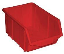 Plastová krabička 230mm červená