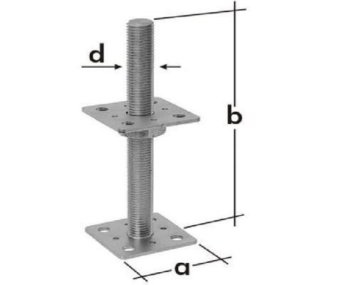 Kotvenie na závitovej tyči a=80mm