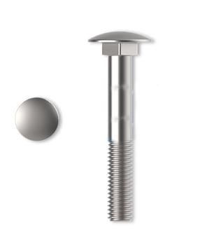 Skrutky vratové DIN 603 4,8 Zn M5